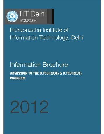 Information Brochure - IIIT-Delhi