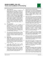 MANN+HUMMEL USA INC Terms and Conditions 16092010