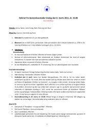 Referat fra bestyrelsesmøde tirsdag den 8. marts 2011, kl. 19.00