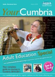 Adult Education Special - Cumbria County Council