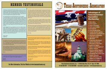 Newsletter 1 - Texas Auctioneers Association