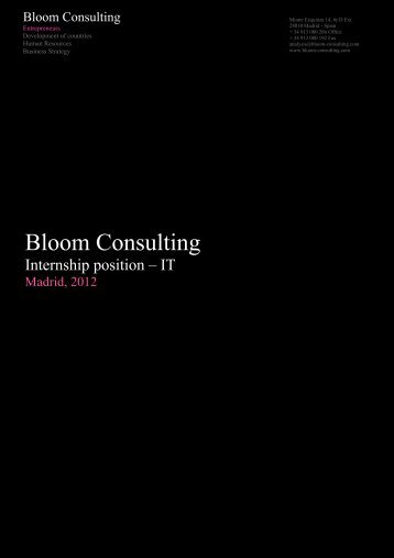 Bloom Consulting