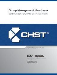 CHST Group Management Handbook - Board of Certified Safety ...