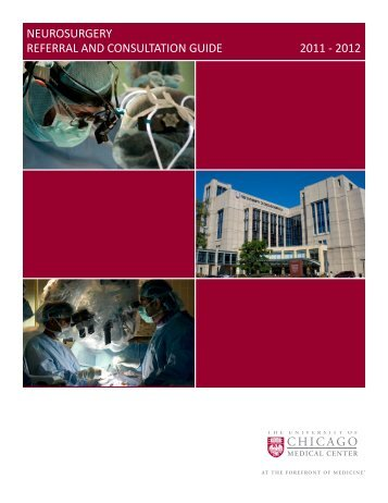 neurosurgery referral and consultation guide 2011 - The Department ...