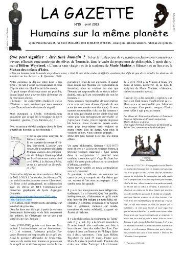 Gazette n°15 Izieu Mercredi 3 avril (96x96) - Maison d'Izieu