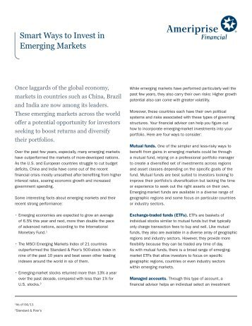 Smart Ways to Invest in Emerging Markets