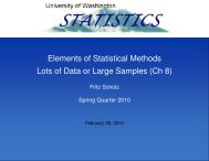 Elements of Statistical Methods Lots of Data or Large ... - Statistics