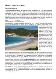Läs på resa i världen - FJ/OH2YL - Sral