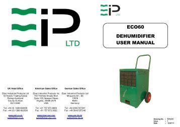 Ruby Dry User Manual Dehumidifier
