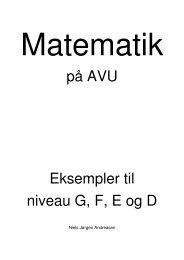 på AVU Eksempler til niveau G, F, E og D - VUC Aarhus