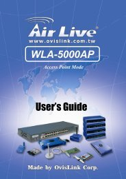 User's Guide WLA-5000AP - Index of
