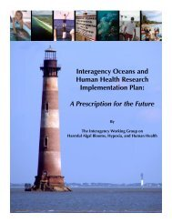 Interagency Oceans and Human Health Research Implementation ...