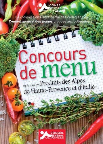 Télécharger le règlement pour le jeu concours de menu - Conseil ...