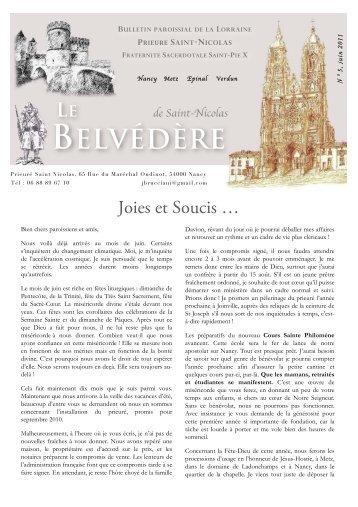 Le Belvédère n° 5 de juin 2011 - La Porte Latine