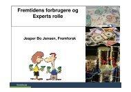 Fremtidens forbrugere og Experts rolle - Fremtidsforskeren Jesper ...