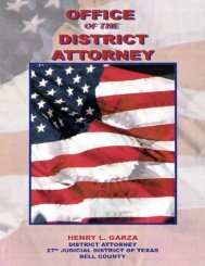 District Attorney Handbook - Bell County