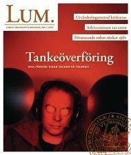 LUM nr 7, okt/nov 2012 - Humanekologi Lunds universitet
