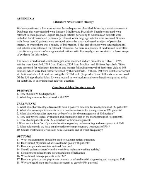 literature review search