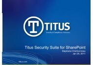 3_Titus Security Suite for SharePoint - Cerberis