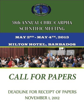 Call for Papers - CHRC-CARPHA Conference 2013.pdf