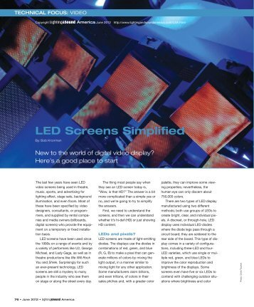 LED Screens Simplified - Lighting & Sound America