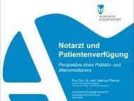 Notarzt und Patientenverfügung