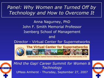 Panel: Why Women are Turned Off by Technology - The Virtual ...