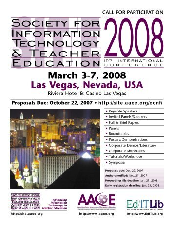 March 3-7, 2008 Las Vegas, Nevada, USA - Association for the ...