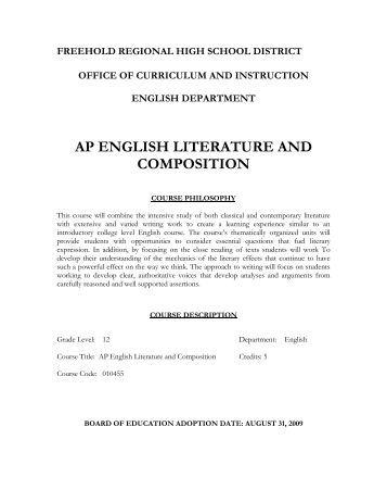ap central ap literature essay