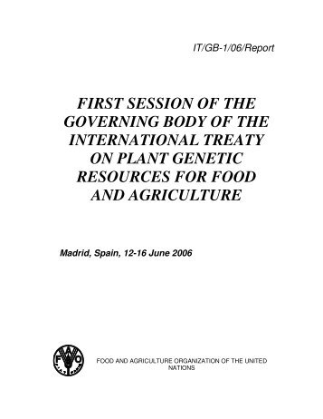 E - International Treaty on Plant Genetic Resources for Food