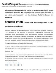 GENIPULATION. Gentechnik und Manipulation in der ...