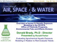 American Chemical Society - AGRO Division