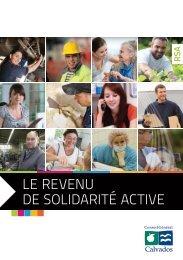 Le revenu de Solidarité active - rSa - Conseil général du Calvados