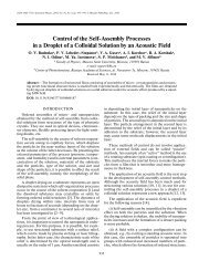 Control of the Self Assembly Processes in a Droplet of a Colloidal ...