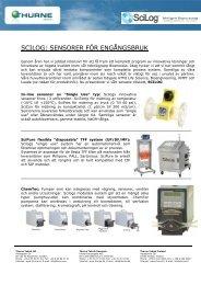 NY partner SCILOG för engångssensorer - Thurne Teknik AB