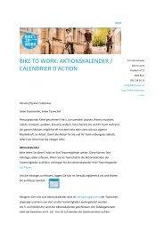 Infomail 1: Teamchefs Aktionskalender Mai 2013 - Bike to work