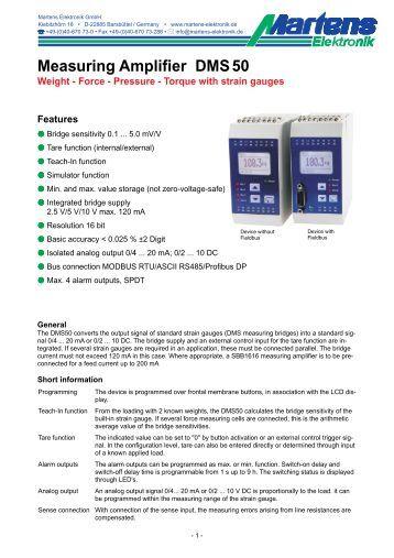 DMS50-V1_1-02- Prospekt - Martens Elektronik GmbH