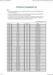 Print Server Compatibility List - Mondo Plast