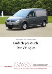 Einfach praktisch: Der VW Aplos - Hermann Stolle Karosserie