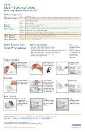 Protocoles de test SNAP - Idexx