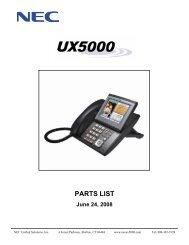 10 NEC UX5000 IP Phone Handsets Receivers IP3NA-6TIXH 8LTIXH 12TIXH 24TIXH Black