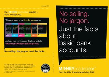 Just the facts about basic bank accounts - Camden Council