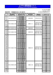 JETPVm認証製品リスト - KYOCERA Solar