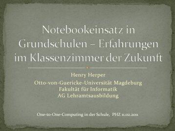 Notebookeinsatz in Grundschulen - Otto-von-Guericke-Universität ...
