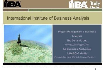 Business Analysis - PMI-NIC