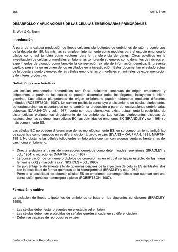 DESARROLLO Y APLICACIONES DE LAS CELULAS ... - Reprobiotec