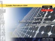 EGM presentation - Lundin Petroleum