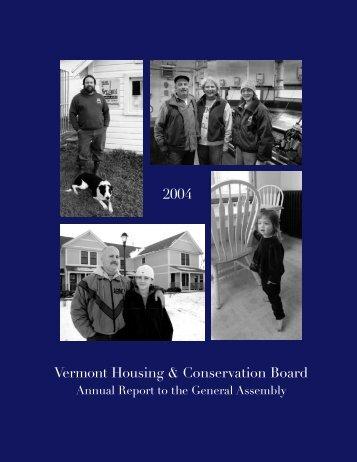Vermont Housing & Conservation Board 2004