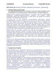 VS/2008/0585 Zusammenfassung Projekt BEST Quality