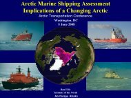 Arctic Marine Shipping Assessment Implications of a Changing Arctic
